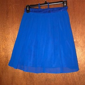 Two piece royal blue laced homecoming dress